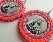 Chief Joseph Nez Perce Beaded Earrings