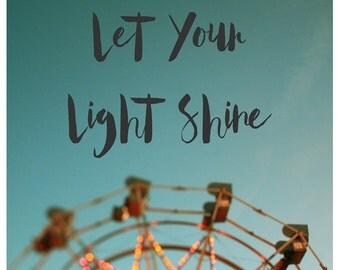 Fair Photograph - Ferris Wheel Photograph - Fine Art Photography - Summer - Fair - Lights - Original Art - Let Your Light Shine - Oversized