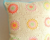 Cotton Crochet Cushion Cover 16 x 16
