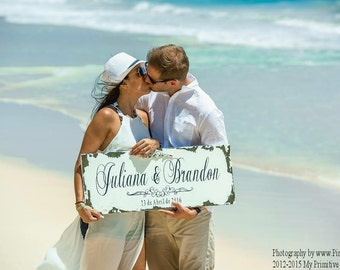 Established Sign | SAVE THE DATE Sign | Wedding Sign | Beach Wedding Sign | Wedding Decorations | Name Sign | Wedding Date Sign | Mr and Mrs