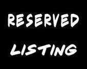 Custom listing for Ty Bowman