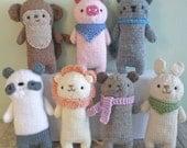 Sale - Amigurumi Knit Baby Animals Pattern Set Digital Download