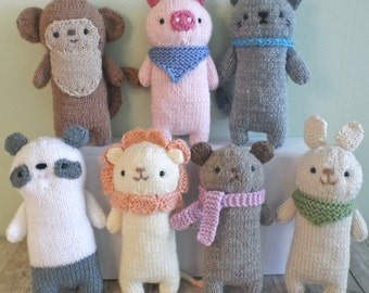 Amigurumi Knit Baby Animals Pattern Set Digital Download