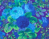 Grandi Flora in Purple by Phillip Jacobs 1/2 yard  PWPJ053 Westminster Fiber/ Cotton, Quilt Craft and Apparrell fabric