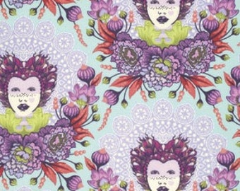 16th Century Selfie in Plum / Elizabeth by Tula Pink / 1 Yard Cotton Quilt Apparel Fabric