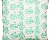 NEW 16x16 mint bike pillow