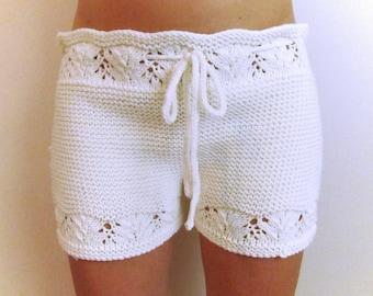 Lacy Hot Shorts Knitting Pattern PDF File