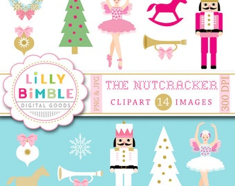 40% off Nutcracker clipart Christmas sugar plum fairy, ballet clip art INSTANT DOWNLOAD