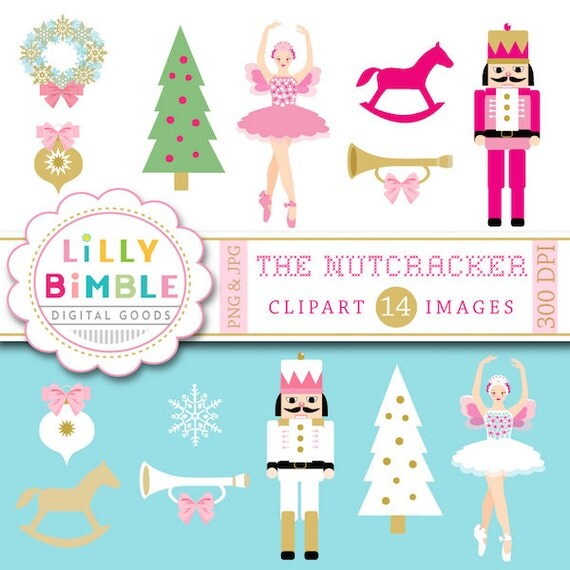 50% off sale Nutracker ballet clipart ballerina, sugar plum, Christmas images INSTANT DOWNLOAD