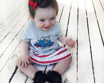 SALE!! LAST ONE! 1st Edition Lets Camp! Tee 3-6 months