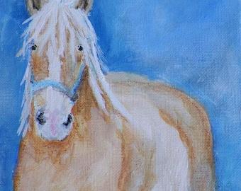 Original Painting Draft Horse Painting by Artist  Debra Alouise Belgian Horse Portrait Contemporary art