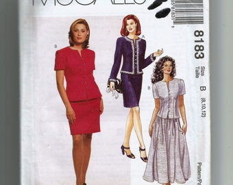 McCall's Misses' Two Piece Dress Pattern 8183