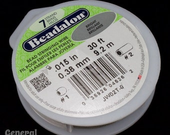 0.38mm 7 Strand Flexible Beading Wire (30 Ft)  #WRD015
