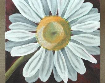 "Daisy Original Acrylic Painting 8"" x 10"""