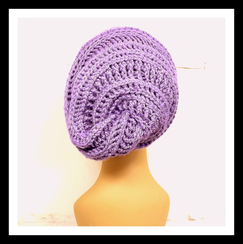 edacfedad0644 Purple Crochet Hat Womens Hat