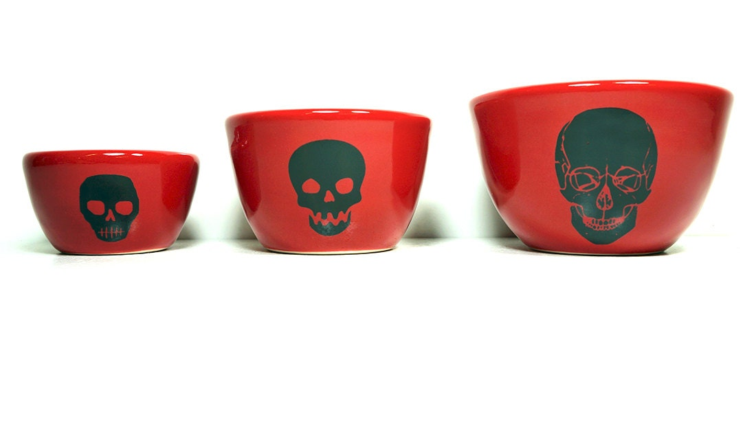 The Urban Set of Skulls.  Made to Order / Pick Your Colour