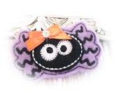 Lilac Spider Dog Bow, Feltie Spider Bow, Halloween Spider Dog Bow, Fall Spider, Felt Spider Barrette