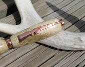 Copper Rifle Deer Antler Pen