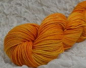 SALE 20% Off Yarn Hollow Tor DK Merino Superwash Hand Dyed Yarn Cream Tangerine Semi Solid DK Weight 3.3 ounces 231 yards