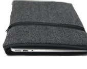 "Men's MacBook Case Laptop Case 11"" 12"" 13"" 15"" MacBook Air or Pro Cover HP Spectre x360 3t - Gray Herringbone Wool"