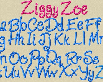 Ziggy Zoe Alpha for personalization - 4 sizes included