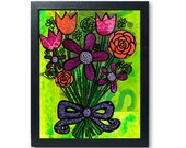 Flower Bouquet Wall Art P...
