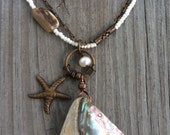 Amazing Abalone and Starfish Necklace