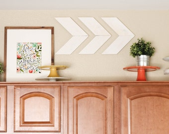 Smaller Size - Wood Arrow Wall Art Chevron Home Decor