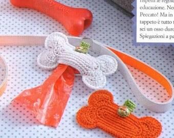 Hand Made Crochet Dog Poop Bag Holder, Poop Bag Dispenser
