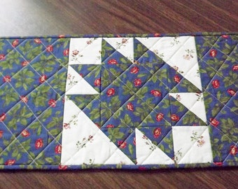 Table runner. Quilted table runner.  Table topper.