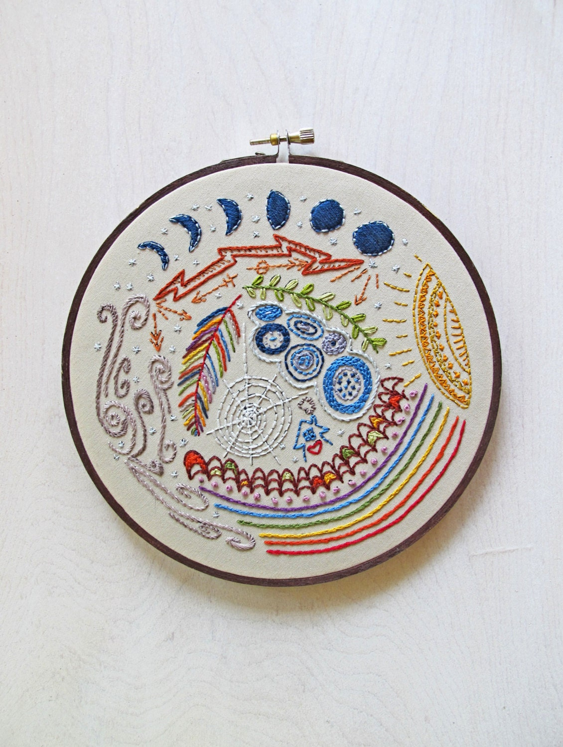 Full circle pdf embroidery pattern hand