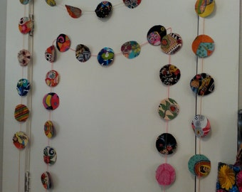 Folk Art Fabric Swag Banner Garland