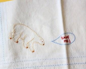 polar bear -  handkerchief
