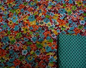 "special listing for Angela - fabric selection per customer - red/turquois as pictured in first photo - ""Big Pockets Skirt"""