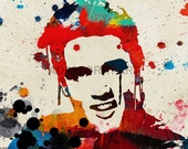 Elvis Presley printable download poster hollywood glam famous movie star tv print download pop art music singer rock n roll