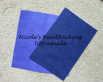 Ultrasuede with Nicoles BeadBacking Great Combo for Beading Zodiac Blue
