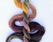 "Size 10 ""Summer Trail"" hand dyed thread tatting crochet cotton"