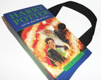 Harry Potter Book Purse Half Blood Prince, Upcycled Womans Fashion Trendy, Recycled Handbag