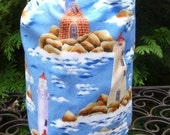 Lighthouse knitting project bag, WIP bag, knitting project bag, Stuff Sack, Suebee