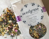 Hibiscus Henna Hair Tea - organic herbal treatment rinse for redheads