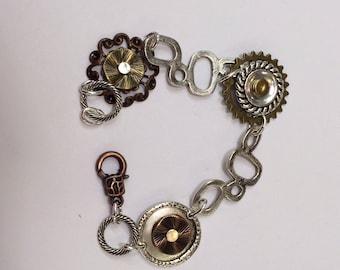 Riveted componet bracelet