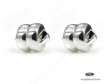 2 Sets 5mm Magnet Magnetic Clasp 925 Sterling Silver F75