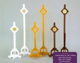"""Home Decor Display Paper Doll Stand for Crankbunny Paper Puppet Dolls. 3D Printed for paper puppets. More Info? Scroll & Read """"Item Details"""""""