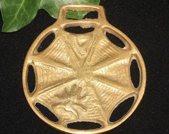 Vintage or Antique Spider's Horse Brass - Spinning & Weaving - Folk Magic, British, Pagan, Wisdom - Rare