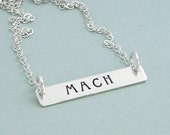Sterling Silver MACH Necklace - Dog Agility Necklace - Hand Stamped Bar Necklace - Dog Agility Gift - Title Necklace - Brag Gift