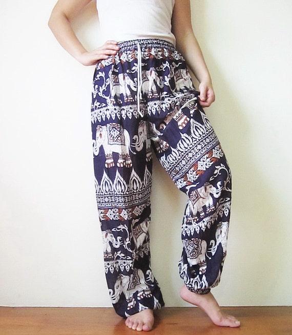 Elephant Pants Elastic Waist And Ankle Yoga Pants Travel