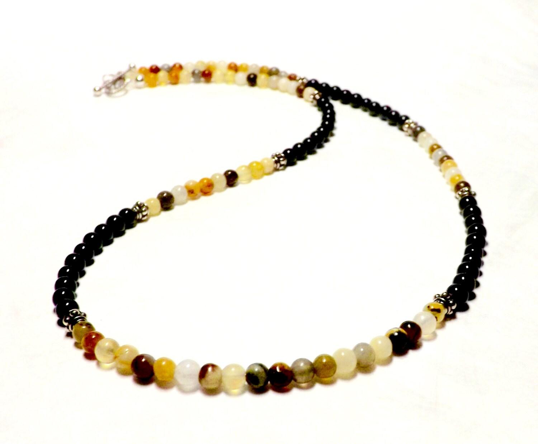 mens necklace jade and black onyx mens jade necklace mens onyx