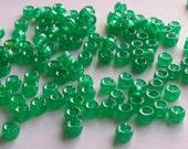 Green Glitter/Sparkly 6 mm Pony Beads 50g