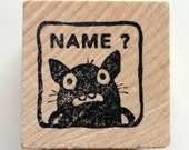 Missing Name - Monster rubber stamp for teachers