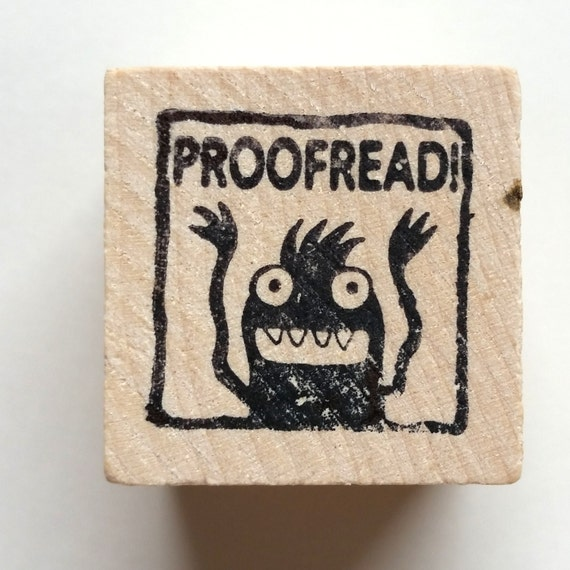 Proofread - Monster rubber stamp for teachers